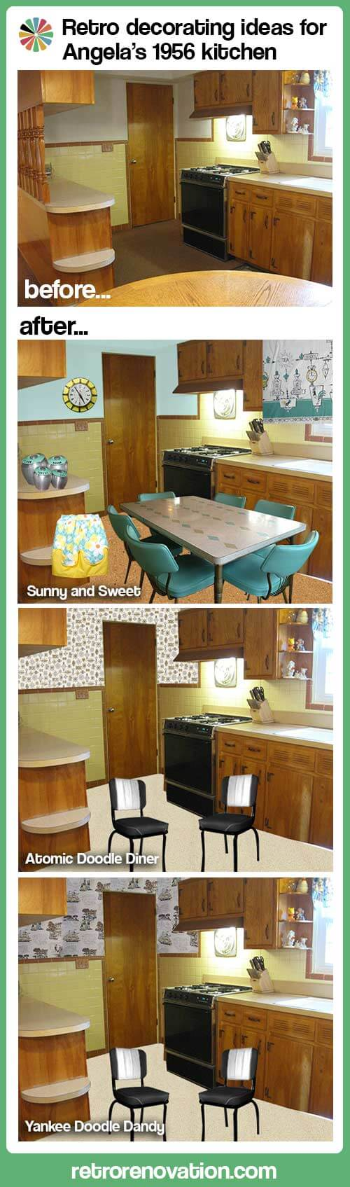 retro decorating ideas 1950s kitchen