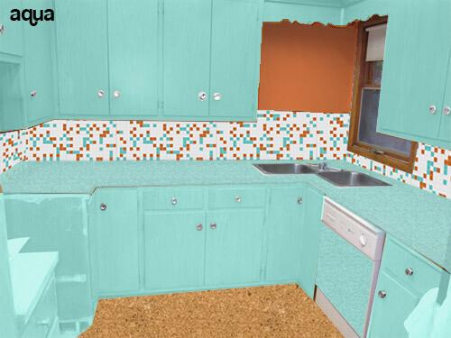 Kitchen-mock-up-aqua-cabinets