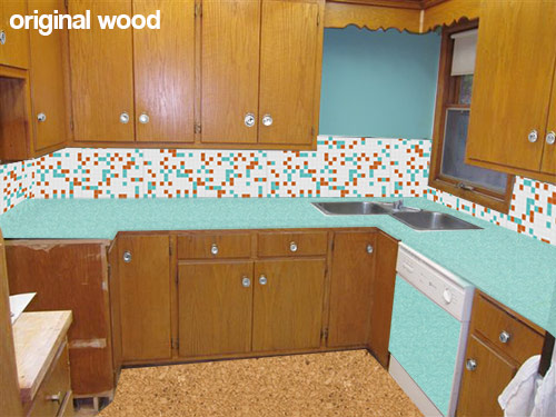 5 Ideas To Repaint Or Refinish These Old Wood Kitchen Cabinets