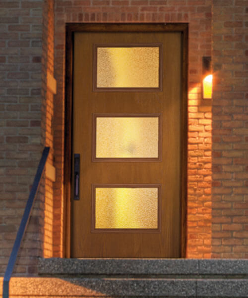 New mid century doors available from therma tru retro - Mid century front door ...