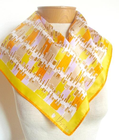 vintage-vera-scarf-yellow-abstract