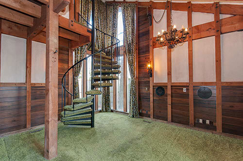 70s-green-shag-spiral-staircase