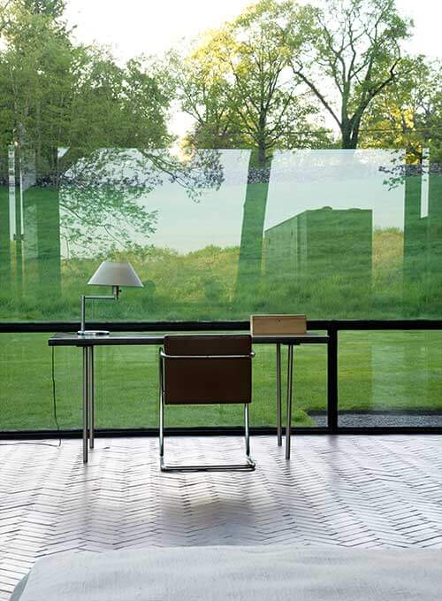 Desk at Glass House