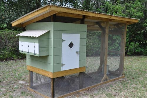 midcentury style chicken coop