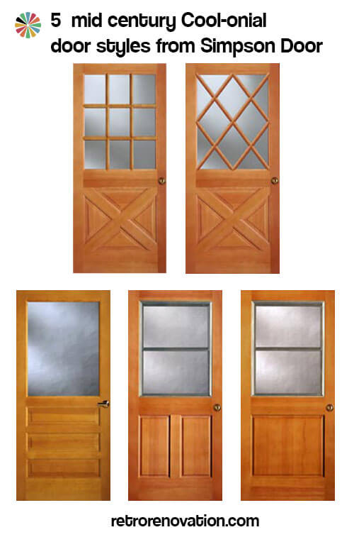 Colonial style front doors for mid century houses -- Five styles ...