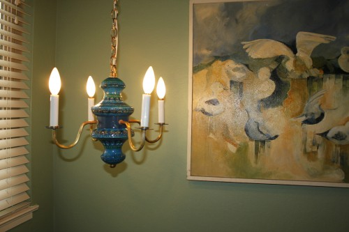 bitossi rimini blu chandelier