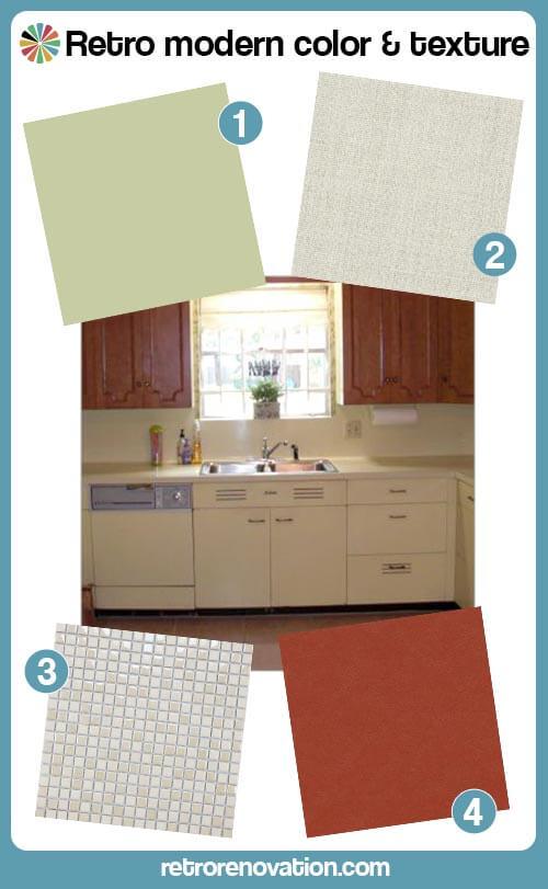 retro modern kitchen design