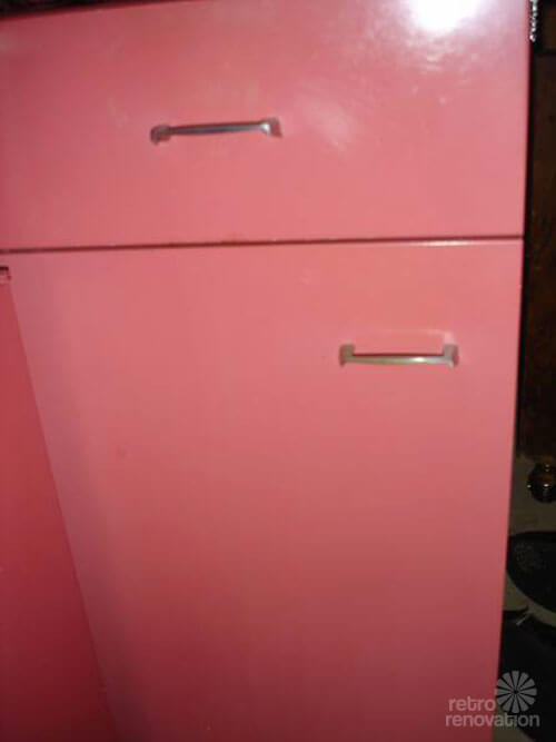 Vintage St Charles kitchen cabinets in Raspberry  Retro Renovation