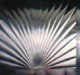 sunburst stainless steel backsplash