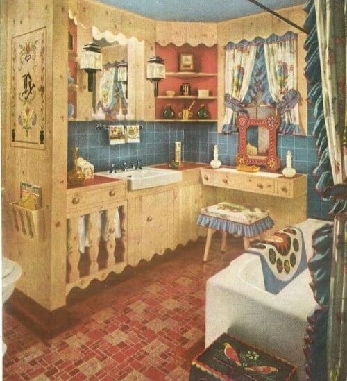 Armstrong 5352 in a bathroom design, 1956
