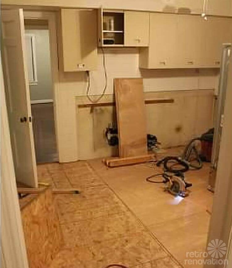 The Cape Cod Ranch Renovation Great Room Continued Kitchen: Vintage Geneva Kitchen Cabinets Made Retro Fresh Again In