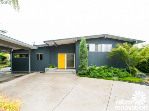 Midcentury modern time capsule house in portland oregon retro renovation for Mid century modern exterior paint colors
