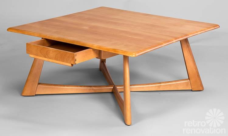 Heywood-Wakefield-Coffee-table - New Furniture Styles Available From Heywood -Wakefield - Heywood Wakefield Coffee Table IDI Design