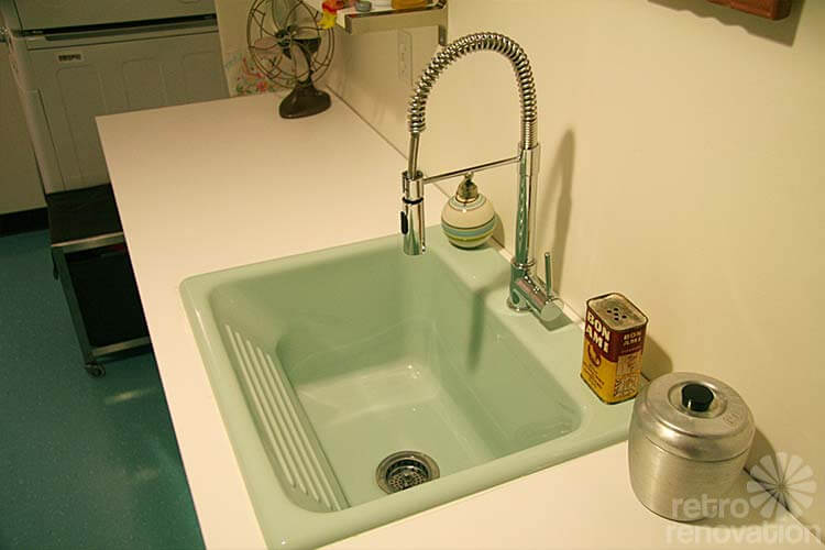 Retro style laundry sink from Home Depot Basement/Utility Rooms P ...