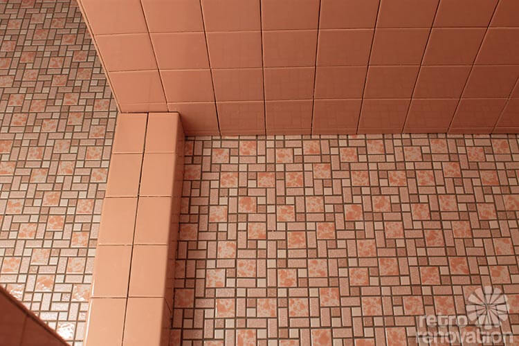 Pink Ceramic Tile Shower