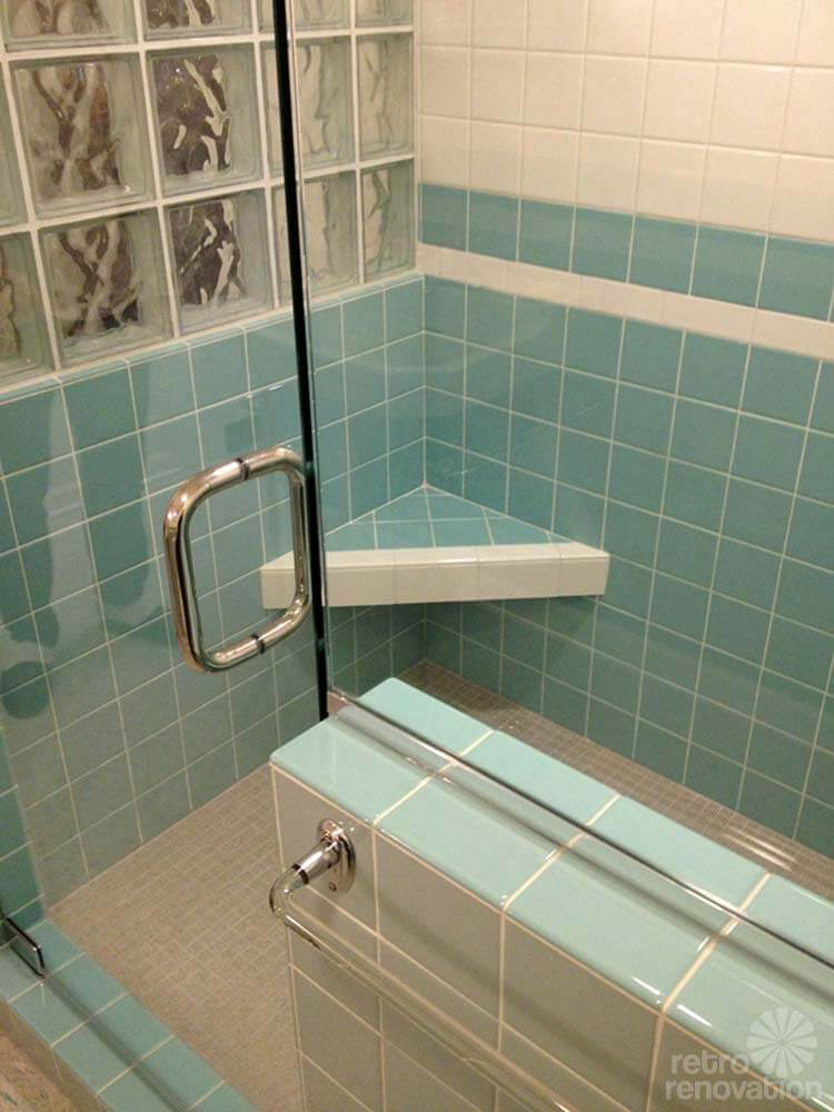 Gorgeous blue tile bathroom vintage style from scratch - Blue tiled bathroom pictures ...