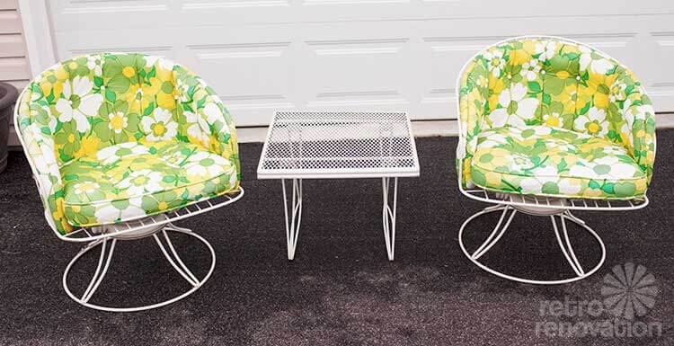 16 Piece Vintage Homecrest Patio Set All Original