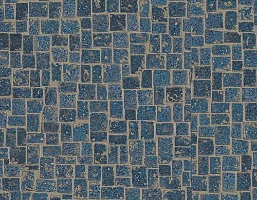 Jessica installs karndean 39 s blue michelangelo mosaic vinyl for Blue linoleum floor tiles