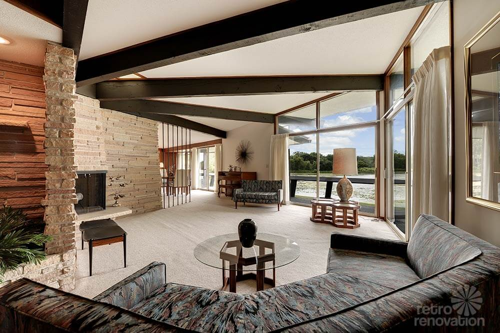 Stunning spectacular 1961 mid century modern time capsule for Modern vintage home exterior