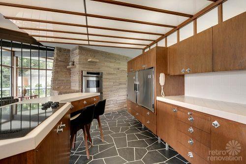 mid century modrn kitchen