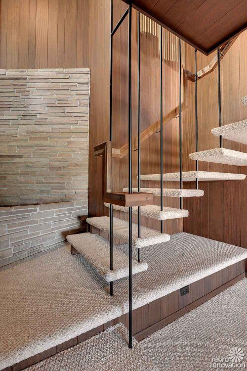 mid century modern staircase