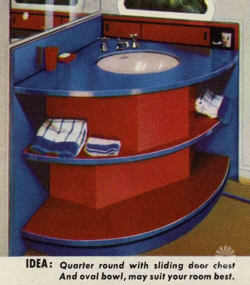 retro bathroom vanity