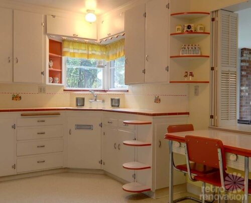 vintage-red-and-white-kitchen