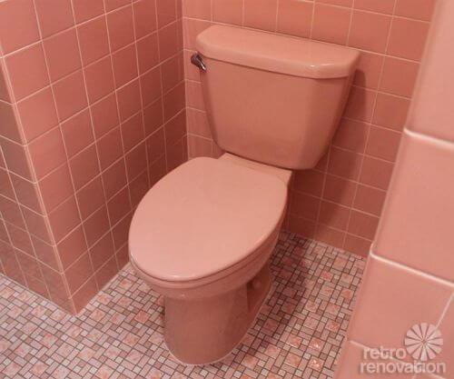 Синий унитаз дизайн туалета 82