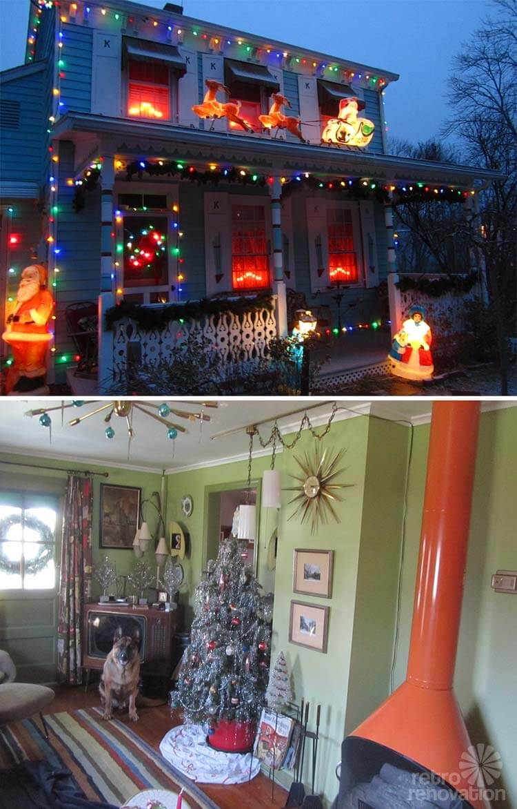 Retro Christmas Inside And Out