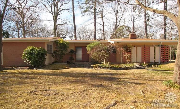 warm and beautiful 1962 mid century modern brick ranch