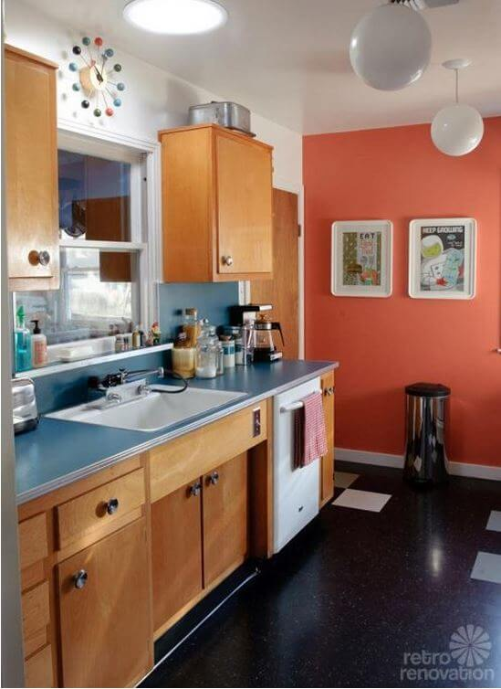 Sarah 39 s super economical retro kitchen remodel featuring for Economic kitchen designs