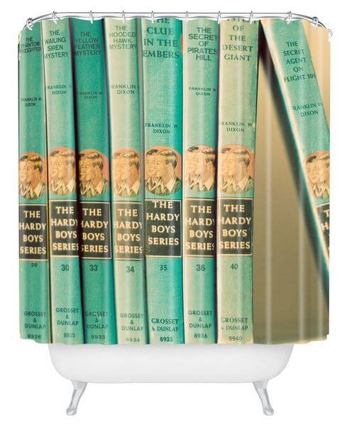 hardy boys shower curtain