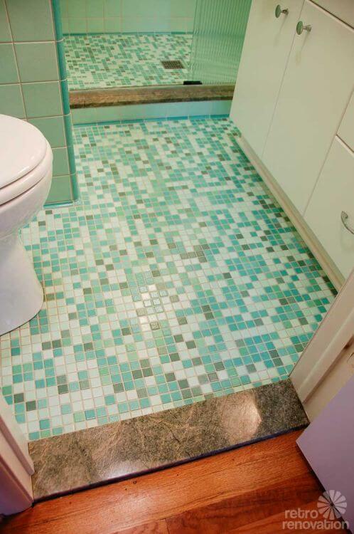 Rebecca S Mid Century Bathroom Remodel Using Nemo Tiles