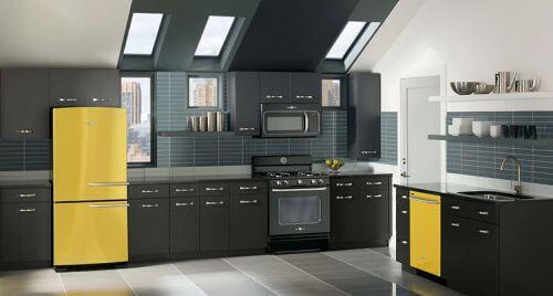 Yellow-kitchen-appliances