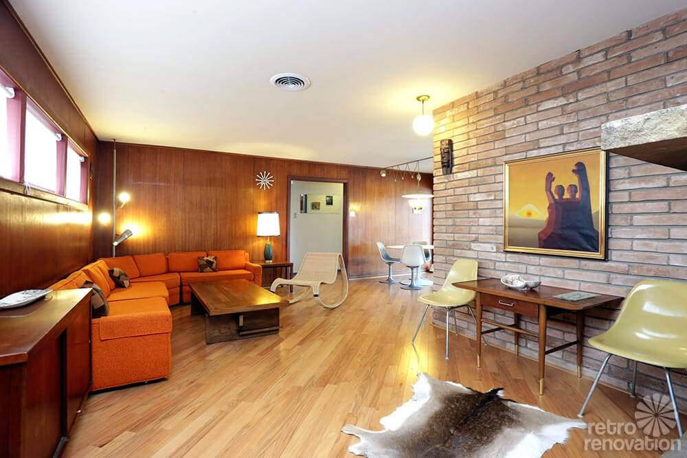 Classy 1958 mid century modern time capsule ranch house in Mid century modern flooring