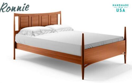 mid century modern style bed