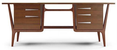 mid century modern style desk joybird