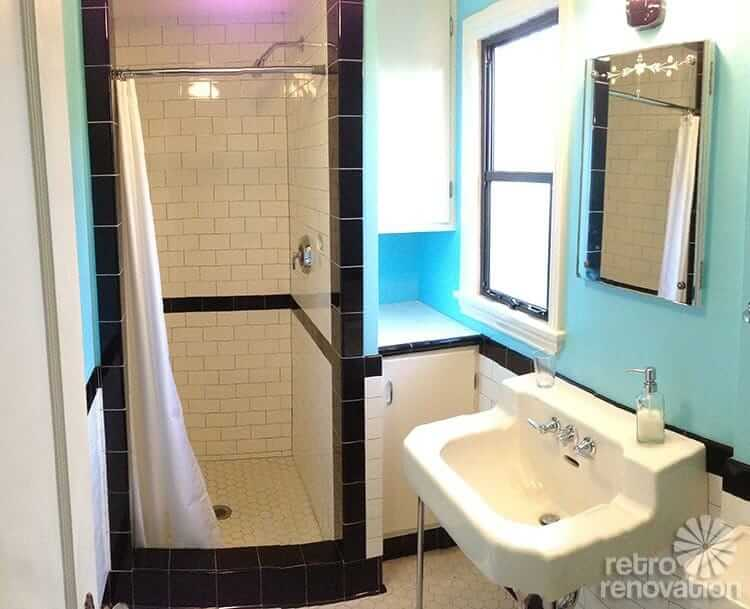 Vintage Black And White Tile Bathroom Dave And Fran 39 S Beautiful