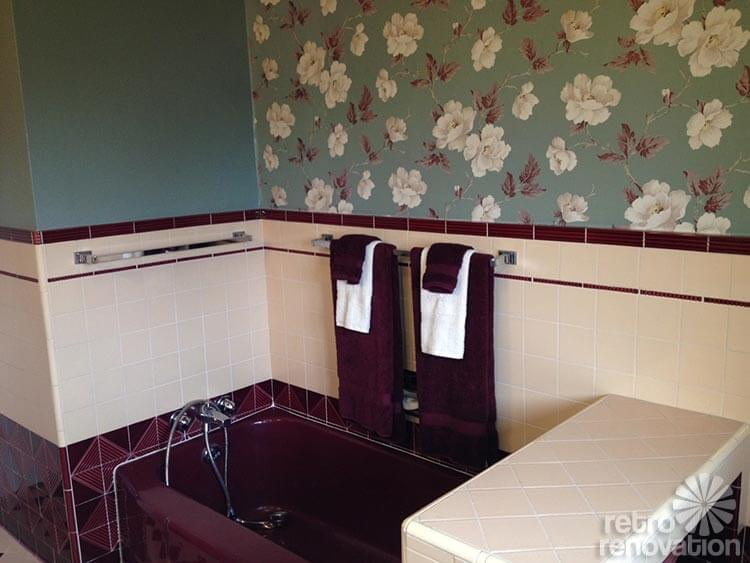 Jodi Saves Her 1949 Maroon And Pink Bathroom With Amazing