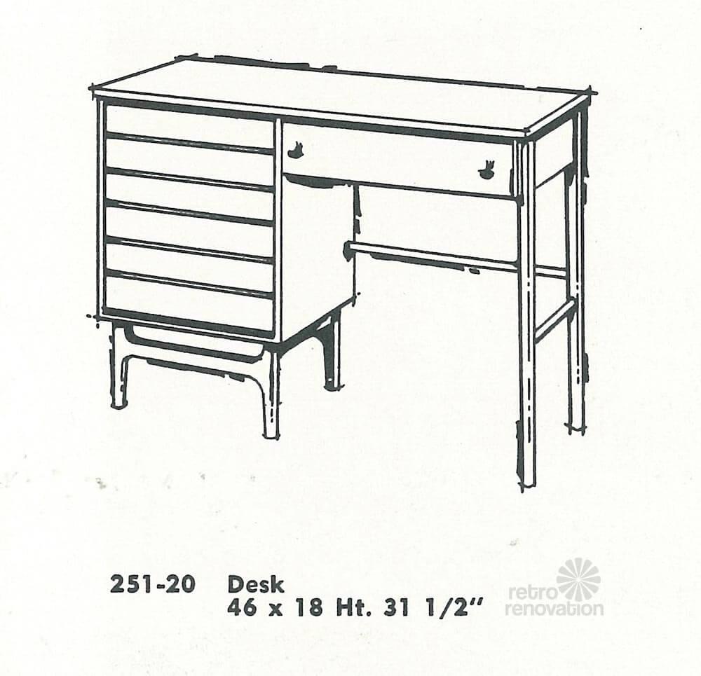 Vintage Stanley Furniture Desk American