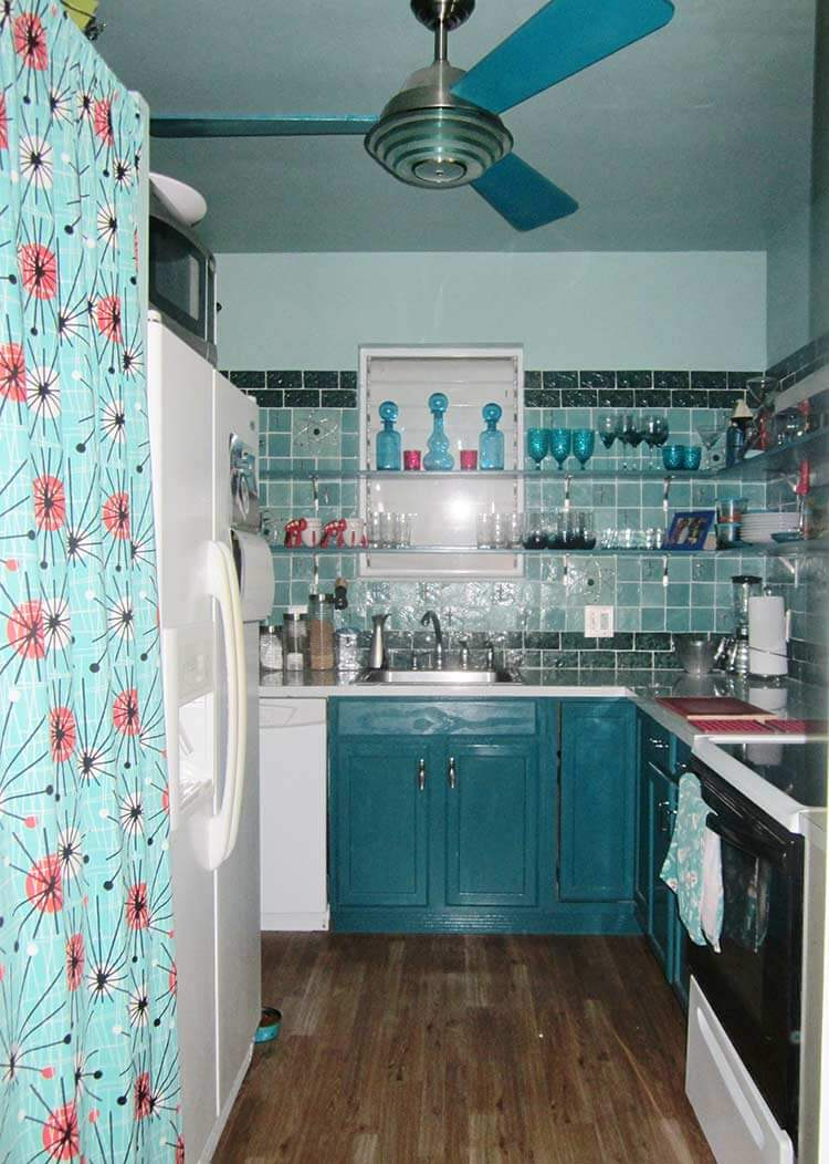 Small Kitchen Teal