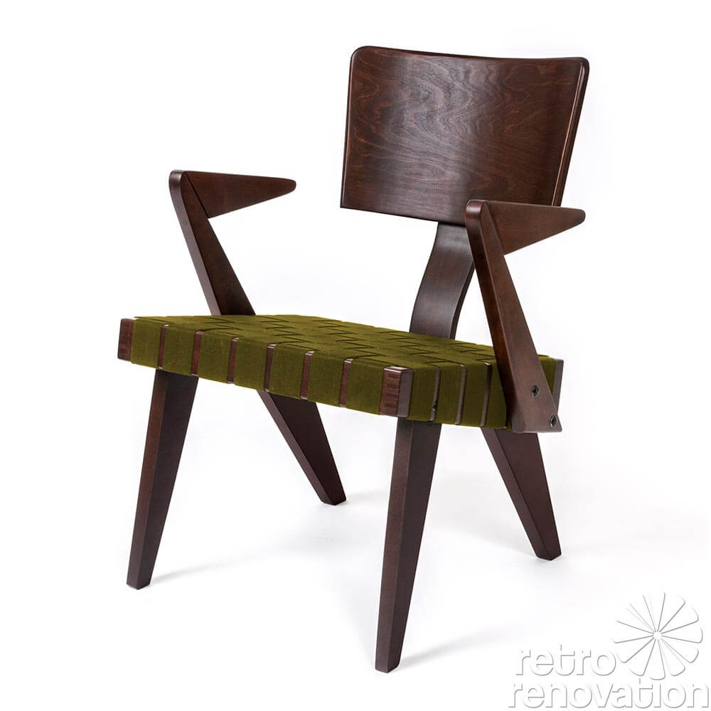 Modern wood chair with arms - Russell Spanner S Lounge Chair With Arms Details
