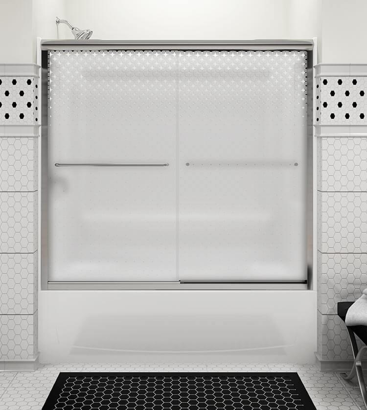 Kohler Sterling Sliding Shower Doors: A Fun Retro Shower Door For A