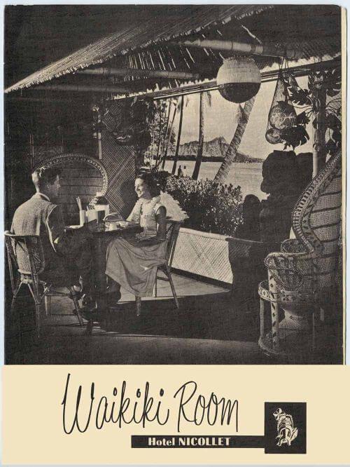 Waikiki Room vintage tiki