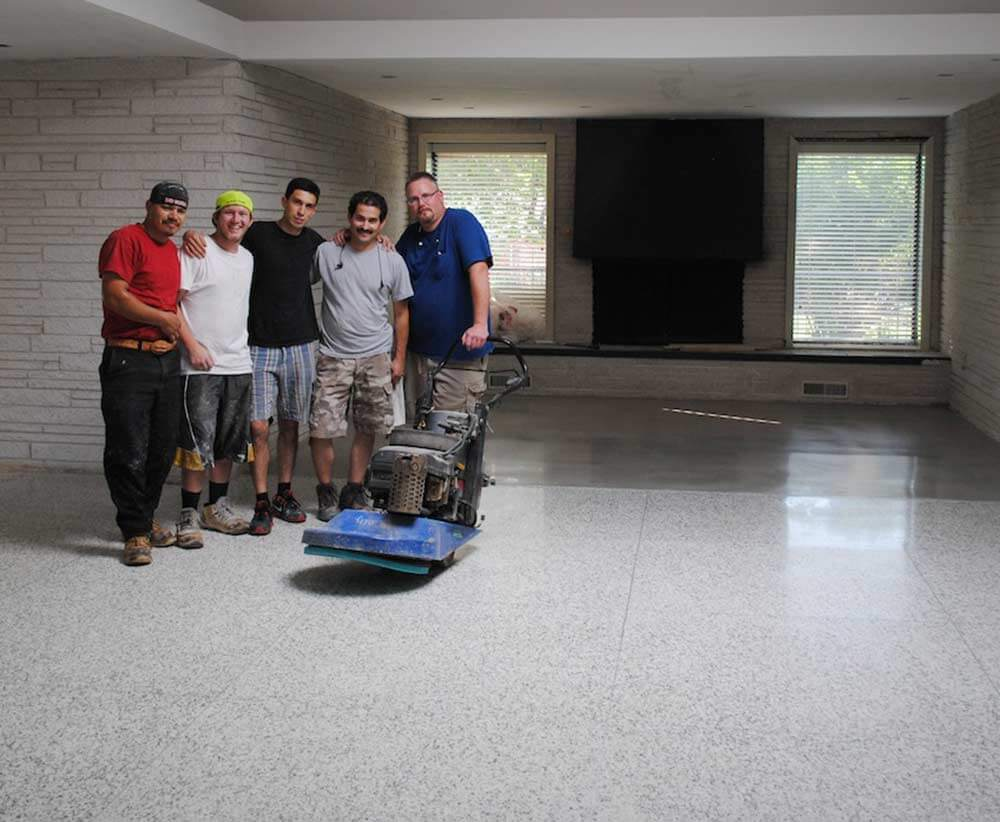 Terrazzo Kitchen Floor Mike And Lindsey Restore And Refinish Their Terrazzo Flooring
