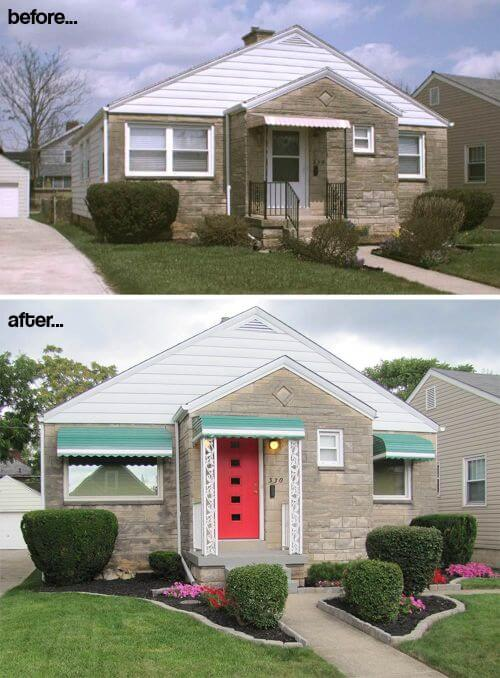 Scott adds curb appeal to his midcentury modest house amazing transformation retro renovation House transformations exterior