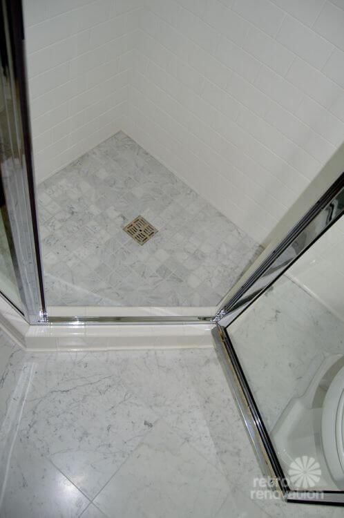 tile shower pan