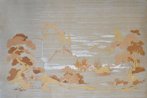 Colonial scenes wallpaper mural joy studio design for Asian mural wallpaper