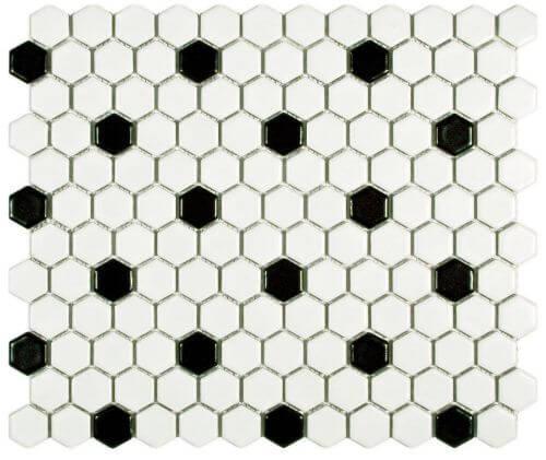 black-and-white-hex-tile