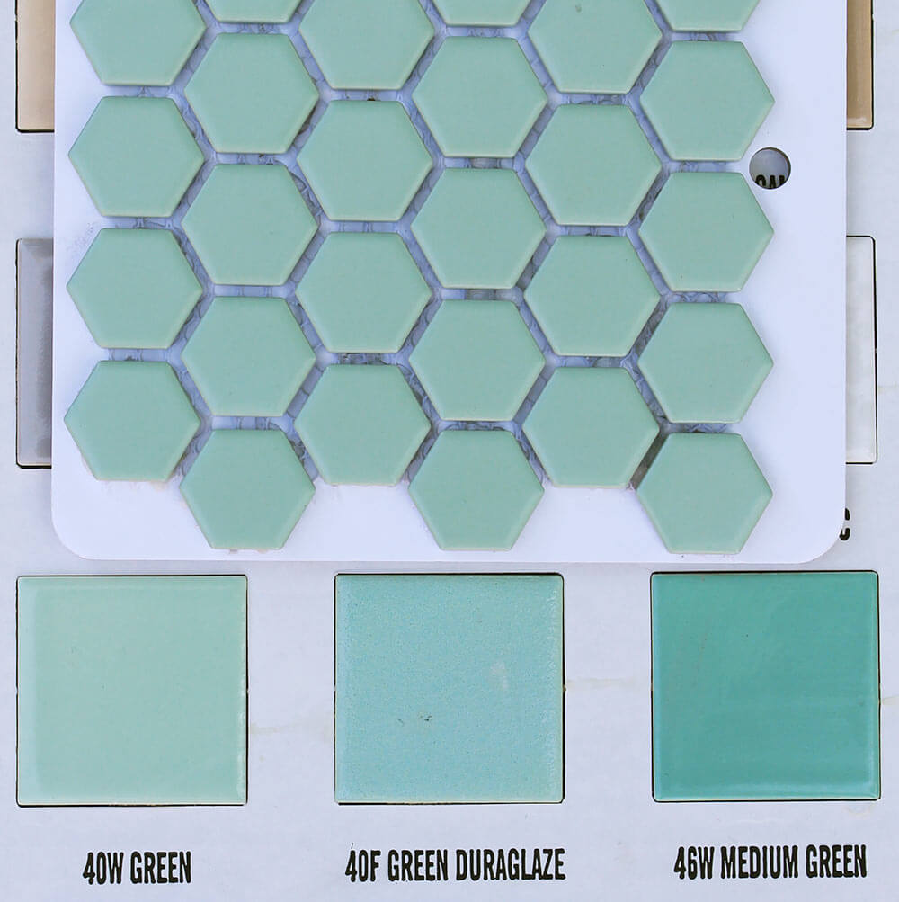 2 New Porcelain Hex Tile Floor Options For Your Vintage Pastel Bathroom Retro Renovation